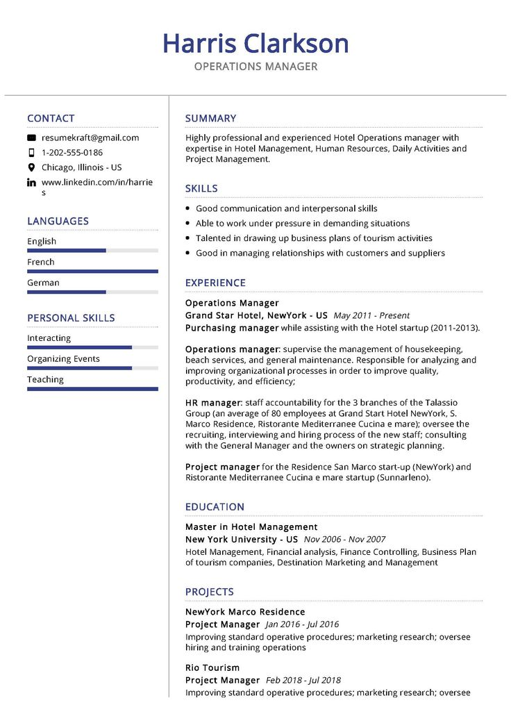 operations manager sample resume  manager resume project
