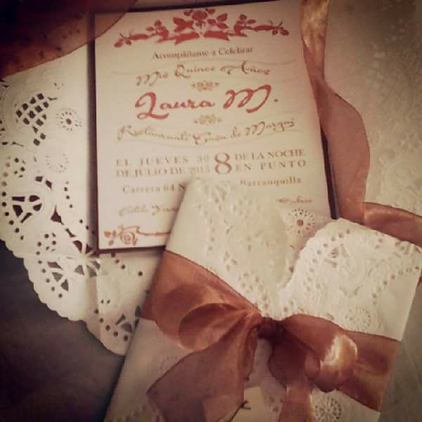 Tarjeta Vintage Quinceañera #arteenpapel #ideas #lovetouch