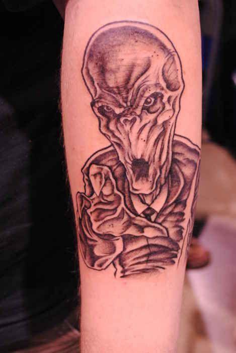 "Community: 50 Fantastic ""Doctor Who"" Tattoos #TheSilence #Silence #SilenceWillFall"