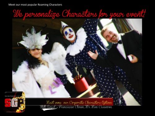 Carnival Characters for your next event