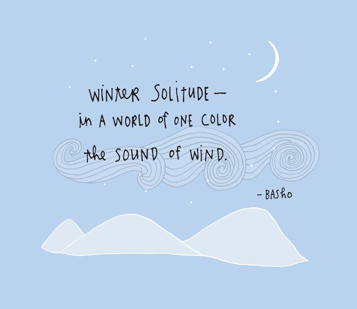 "Saint Marty: January 6: Writing Haiku, Basho, ""Winter Solitude"""