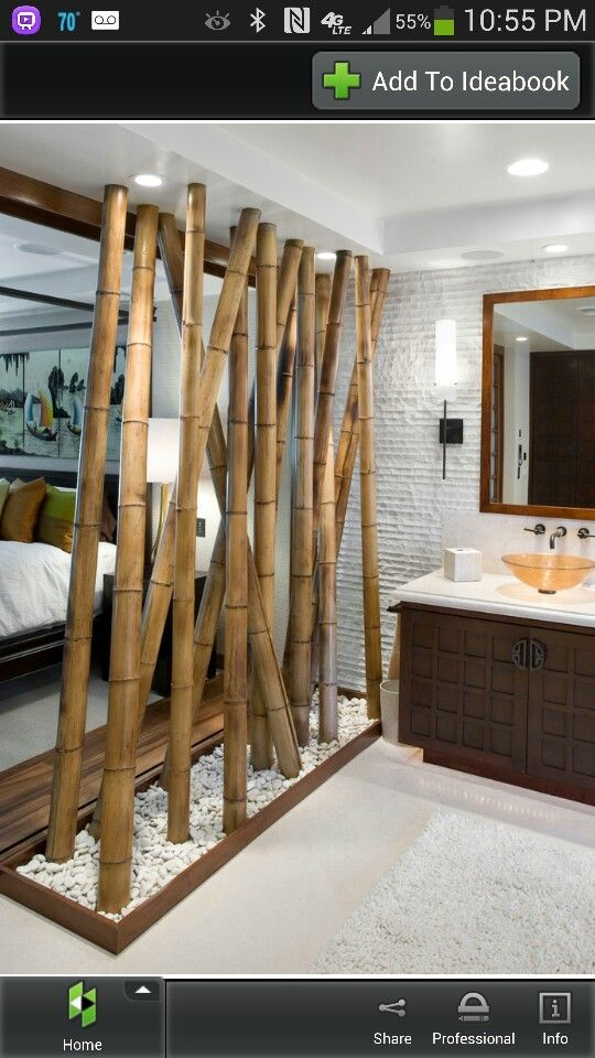 Bamboo wall separation
