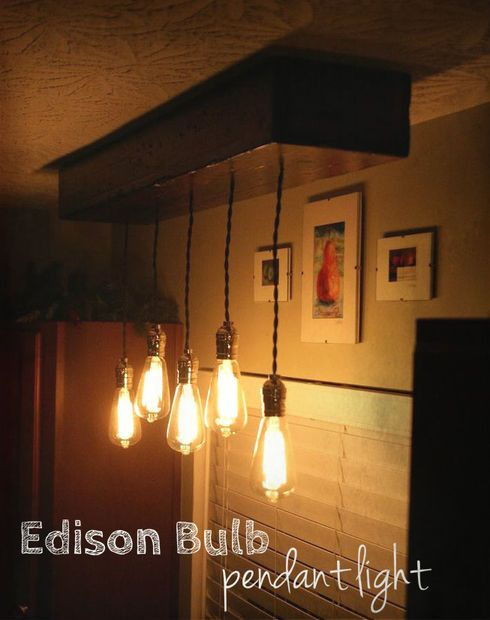 47 best images about new lights on pinterest industrial for Diy edison light fixtures