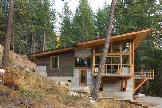 Hillside Home Design Prefabricated Architecture Minimalist Cabin