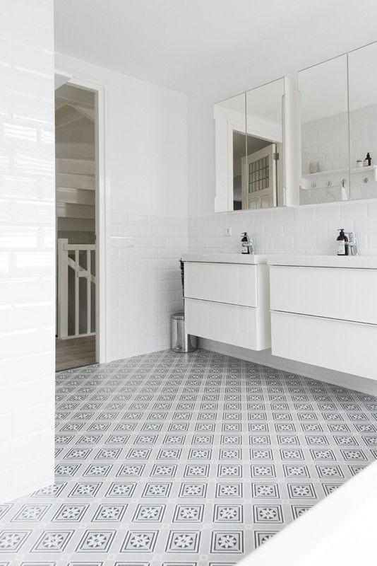 Les 175 meilleures images du tableau sol sur pinterest carrelage carreaux ciment et carrelage - Deco witte tegel ...