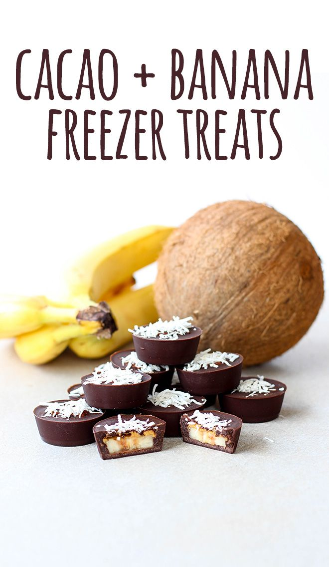 Delicious little frozen bites of banana and chocolate goodness, with a smidge of peanut butter for good measure! These can be waiting for you in your freezer, for when you need them the most. Which could be at breakfast time, yeah? #vegan #glutenfree #vegetarian #dairyfree #refinedsugarfree #cacao #banana #peanutbutter #coconut #sweets #frozen #nobake #recipes