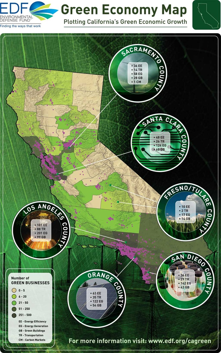 Green Economy Map California 101 best 4th