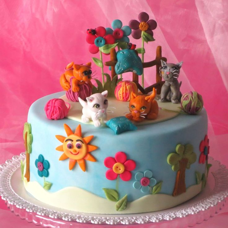 67 best Cake Cats images on Pinterest Kitty cake Cat cakes and