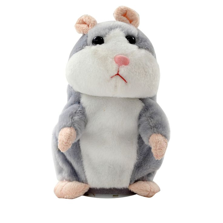 Novelty Electronic Talking Hamster Plush Toys Best Early Educational Toy Christmas Gift Speaking Sound Stuffed Electric Pets