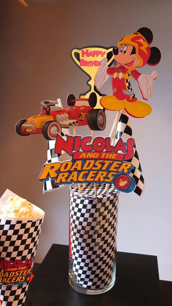 Mickey y el Roadster corredores decoración centro de mesa