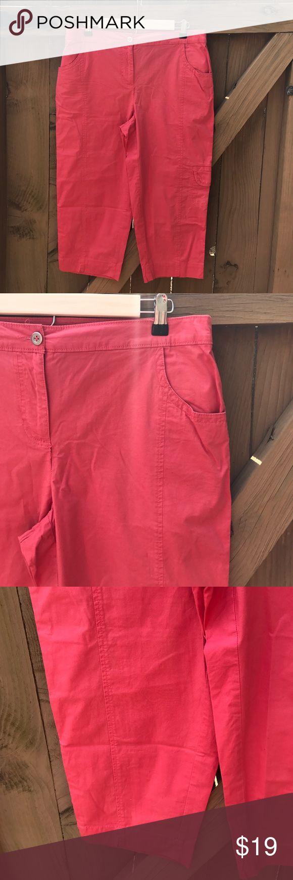 Chico's size 1 (M/8) coral capri pants Chico's size 1 (M/8) coral capri pants Chico's Pants Capris
