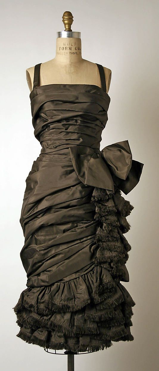 Cocktail dress | House of Dior (French, founded 1947) |  Designer: Yves Saint Laurent (French (born Algeria) Oran 1936–2008 Paris) | Date: fall/winter 1959–60 | Culture: French