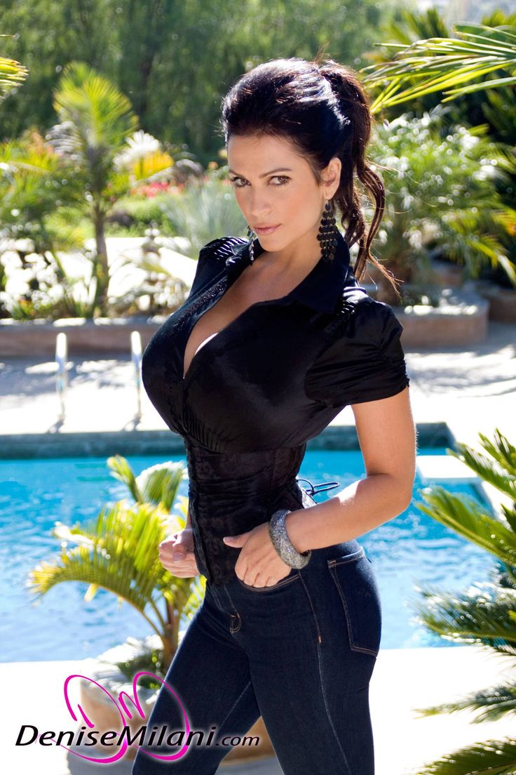 Denise Milani preview of her set Jeans Black Top | Denise ...