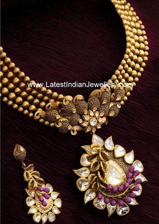 Fancy Antique Finish Necklace