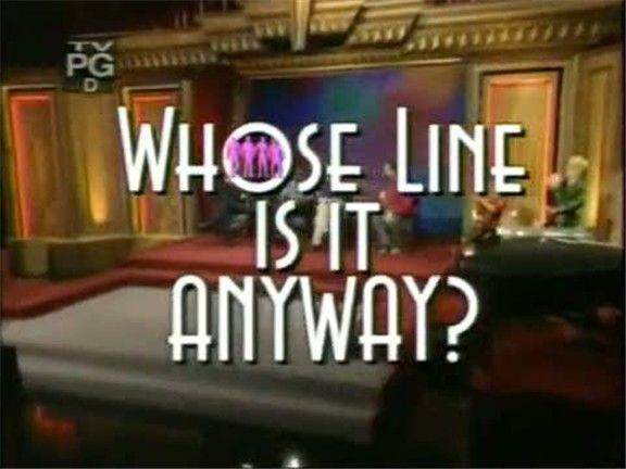 Whose Line is it Anyway?  Games to play with drama class:    Alphabet  Backward Scene  Whose Line Is It?  Games to try with drama class:  Number of Words  Questions only  Quick change  Whose line?  Scenes from a hat  World's Worst  Let's Make a Date or Party Quirks  Action Replay  Director/ Hollywood Director  Home Shopping  Mission Impossible  Sports Commentators  Superhero  Stand, Sit, Bend/Lie Down  Dubbing  Film Dub (need a muted film)