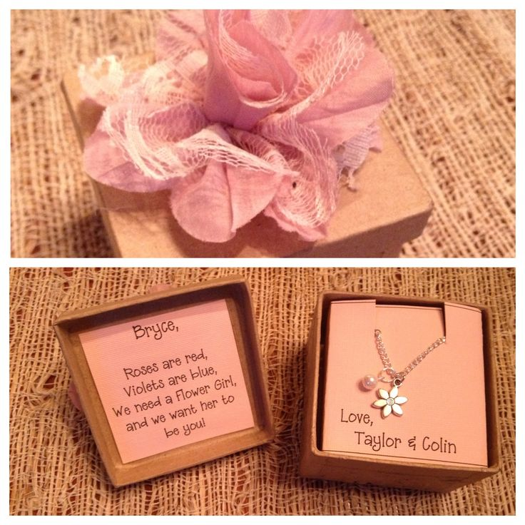 Flower girl gift, how adorbs