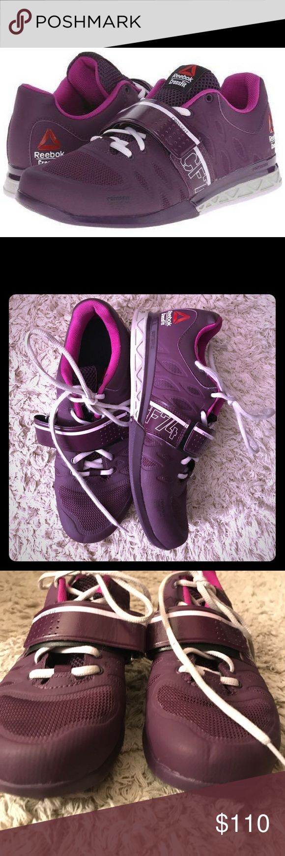 REEBOK CrossFit Lifter purple women 8 like new Women's Reebok Crossfit Lifter 2.0 for weightlifting, Crossfit, etc. Very lightly worn, in like new condition. Deep purple and white. Size 8. No box. Reebok Shoes Athletic Shoes