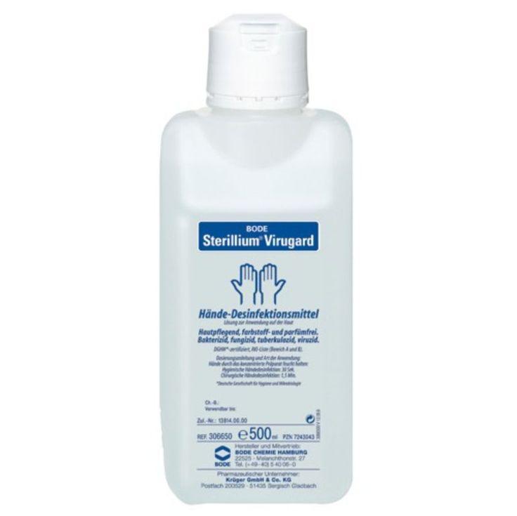 Sterillium Virugard ist ein Händedesinfektionsmittel. Es ist besonders hautverträglich und rückfettend, umfassend wirksam gegen Bakterien, Pilze und  Viren. - www.romneys.de