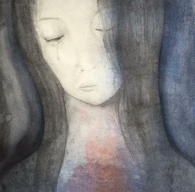 """""""Förlåtelse"""" Akvarell & Blyerts 38x56 cm"""