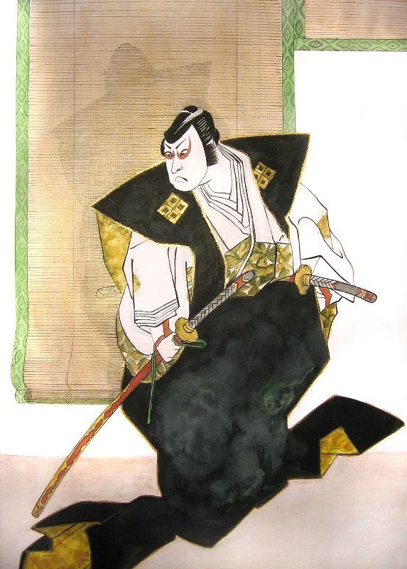 KABUKI SAMURAI 2011 ink and acrylic on paper, 35x50 cm