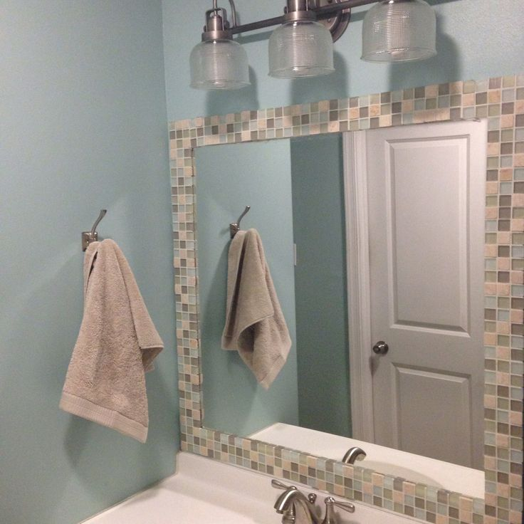 Fantastic Regardless Of Your Routine, The Right Bathroom Mirror Will Frame The Conversation In Style  The Round Mirror Provides A Shapely Contrast To The Hexagonal Tile And