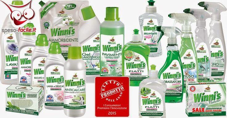 WINNI'S è una linea Ecologica completa di detersivi BIO per la cura del bucato, la pulizia delle superfici, stoviglie e per la cura della persona. www.spesa-facile.it/prodotti/winni-s
