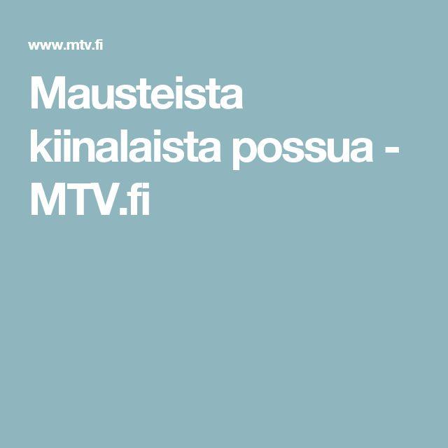 Mausteista kiinalaista possua - MTV.fi