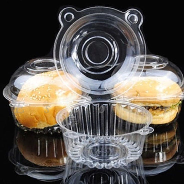 Clear Plastic Single Cupcake Containers (100 pcs)