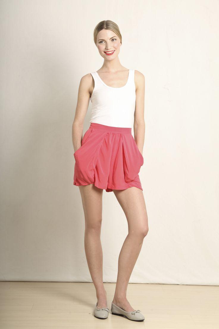 Elsabe shorts in coral  GB120-CRL  R480.00  www.georgieb.com