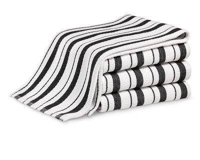 Williams-Sonoma Classic Striped Towels, Set of 4, Jet Black #williamssonoma