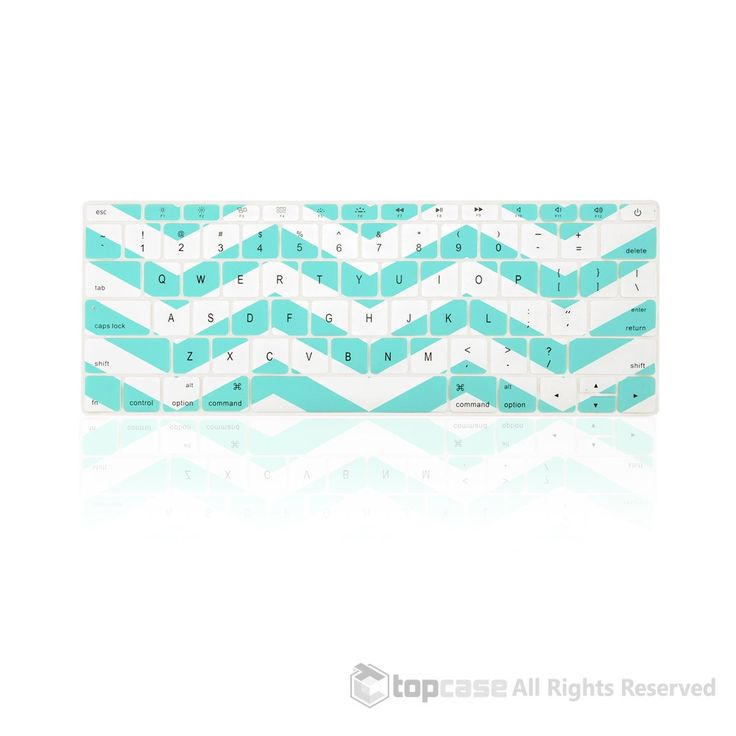 """Apple New Macbook 12"""" Chevron Series Hot Blue / Turquoise Keyboard Cover Silicone Skin for Macbook 12-inch with Retina Display Model A1534 Newest Version 2015"""