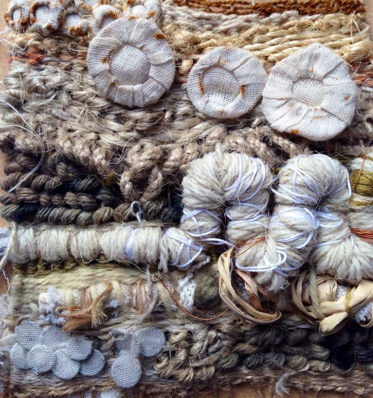 Julia Wright textural weave with fabric manipulation