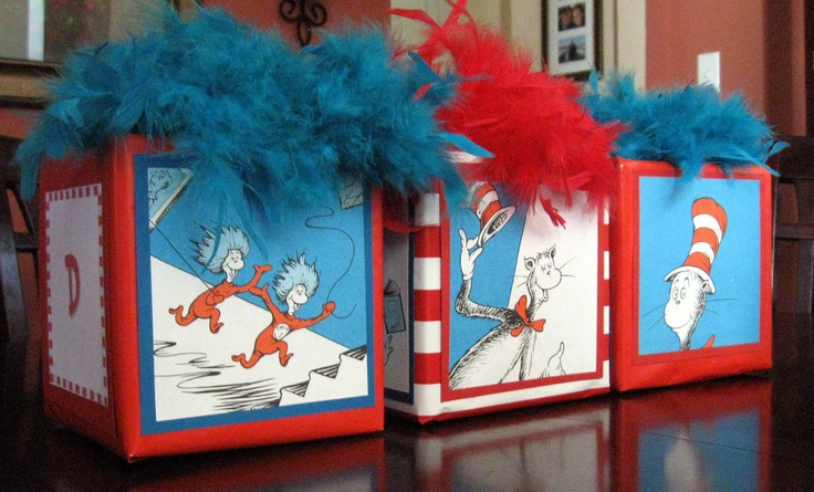 Dr Seuss Centerpieces | Party Centerpiece Cat in the Hat Thing One Thing Two Customizable ...