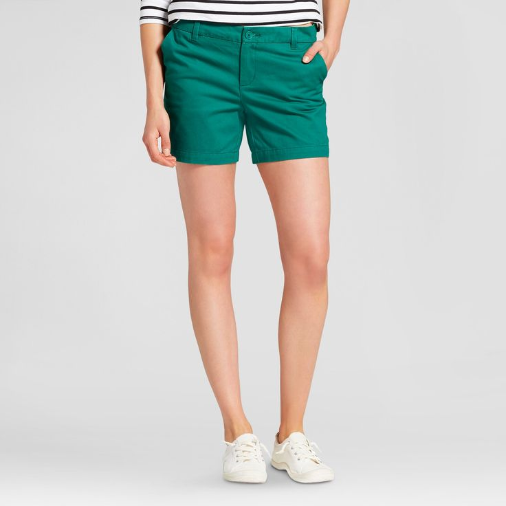 Women's 5 Chino Shorts - Merona Green Reflection 10
