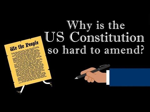 When it was ratified in 1789, the US Constitution didn't just institute a government by the people – it provided a way for the people to alter the Constitution  itself. And yet, of the nearly 11,000 amendments proposed in the  centuries since, only 27 have succeeded as of 2016. Peter Paccone  explains why the US Constitution is so hard to change.