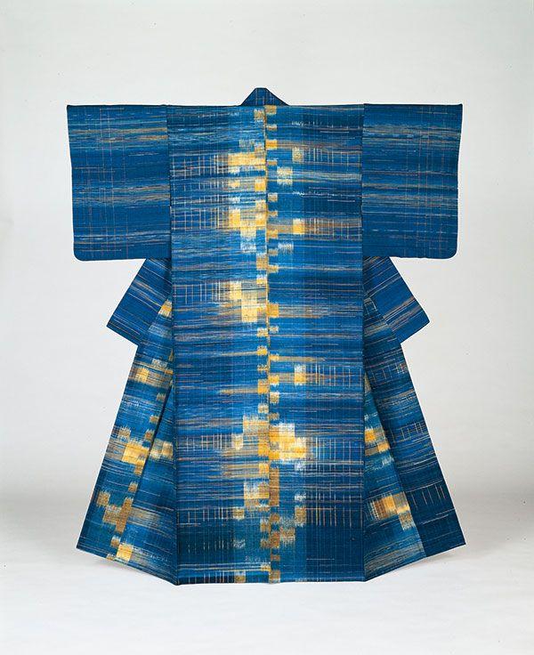 光の湖/志村ふくみ 東京国立博物館蔵 『つむぎ おり』