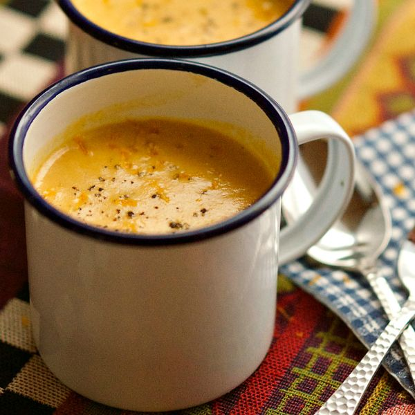 This Creamy Butternut Squash Soup is the perfect soup, topped with fresh orange zest, to share with a friend or neighbor!