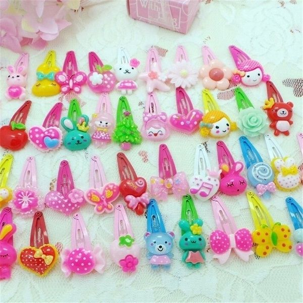 10Pcs Cute Girl Hairpins Cartoon Mermaid BB Hair Clips Child Barrettes Hair Band
