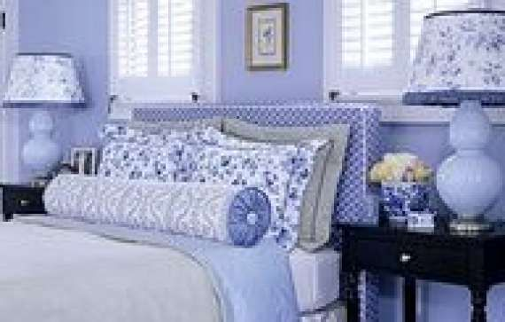 Periwinkle Your Heart Out! #periwinkle #bedroom #homedecor