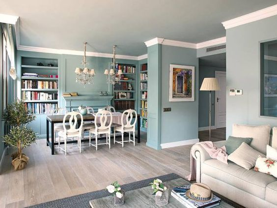 Bring your living room with a dining area back to life following these splendid decorating ideas