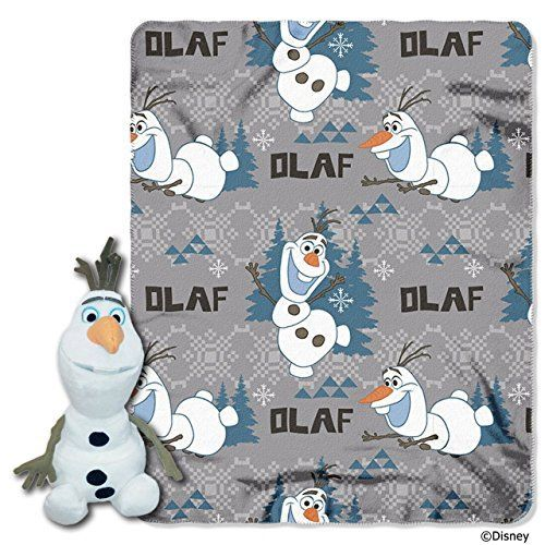 The Northwest Company Disneys Frozen Olaf Character Plush and Fleece Throw Set * Continue to the product at the image link.