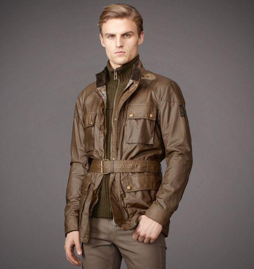 Belstaff | Mens Waxed Cotton Roadmaster Jacket | Mens Designer Jackets & Coats
