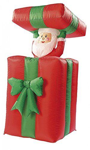 infactory Weihnachtsmann: Selbstaufblasender XXL Santa im Geschenk ...