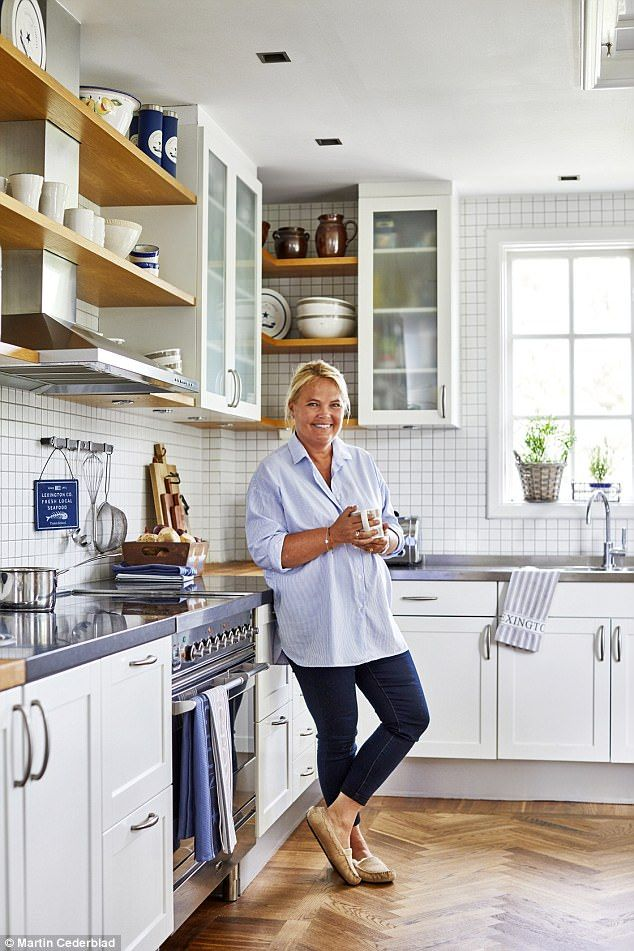 'The kitchen needed a lot of work when we moved in; it took a few years to renovate,' says Kristina. The tiles are from Swedish company Room. For similar, try Victorian Plumbing (victorianplumbing.co.uk)