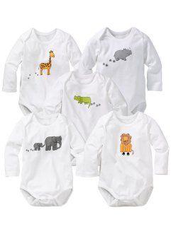 Dětské tričko + šortky (2-dílná sada) bio bavlna, bpc bonprix collection, bílo-světle šedý melír