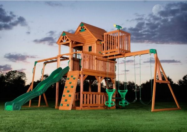 My kids would go nuts over this swing set/ play set