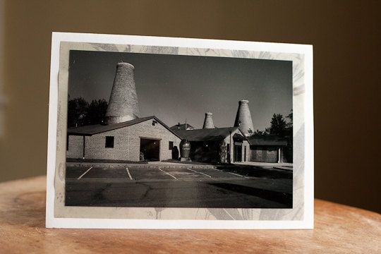 Black and White Fine Art Greeting Card Blank 5 x 7 Pottery Factory $5.00