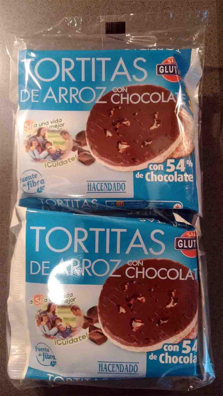 tortitas de arroz con chocolate hacendado - 4pp (bolsita de 2)