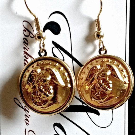 US+Marine+Corps+Sweetheart+jewelry++Earrings+Made+by+BNDJewelry,+$35.00
