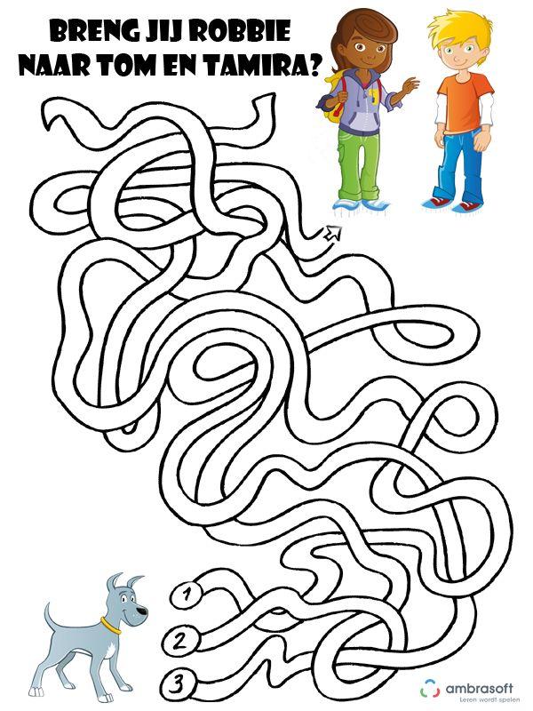 Ambrasoft - Puzzel voor kinderen: Breng Robbie naar Tom en Tamira